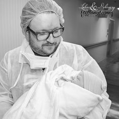 Daddy's little girl Labor and Delivery Photography  Tiffany Boone Photography