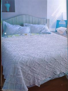 вязаное покрывало на кровать своими руками видео
