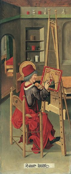 Saint Luke painting the Virgin (1478) Gabriel Mälesskircher