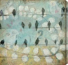Judy Paul - Counting Crows #crows #blue #art #wire