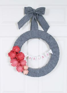 Silhouette Blog: Simple Spring Wreath Make-Over