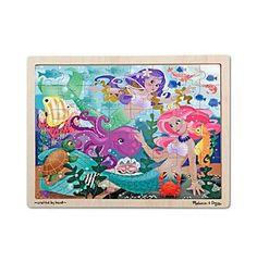 Melissa & Doug® Mermaid Fantasea Wooden Jigsaw Puzzle