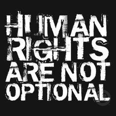 Human rights . . .