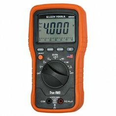 MM5000 Electricians TRMS Multimeter (Cat. No. MM5000) from #KleinTools – Durable, American-made True RMS Multimeter for accurate readings of all signals. CAT IV 600V safety rating. Built to endure a 10 ft. drop, double insulated and raised rubber molding boot for increased display protection.