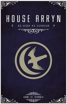 House Arryn -   Alternative and minimalist poster - Game of Thrones - By Thomas Gateley, http://www.flickr.com/photos/liquidsouldesign/  Visit: http://spotseriestv.blogspot.com