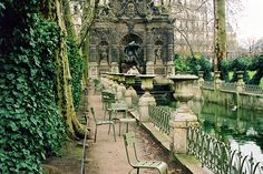 Jardin de Luxembourg, Paris-not your traditional park, but a beautiful place to stroll or have a sit in the readily available chairs. I prefer the inclined chairs that allow for an afternoon cat-nap.