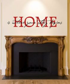 'Where Your Story Begins' Wall Quote - Just like home. #fireplace #firesidechat