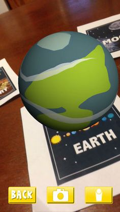 AR Flashcards Space- augmented reality