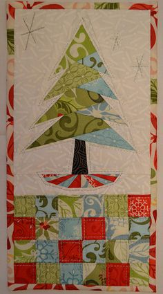 Idea of colors link to free piecing pattern