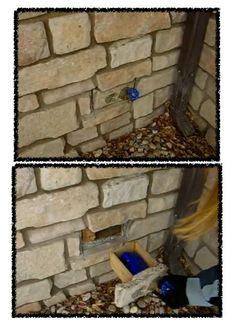 "This geocache is very clever! It's a spigot and a brick ""drawer"" behind it."