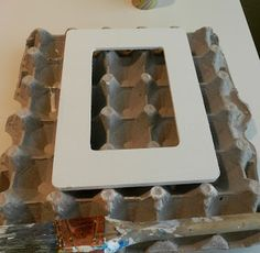 Crafting Tip: Painting on large egg cartons. Allows you to paint top and sides without getting fingers messy!