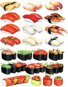 Sushi illustration.