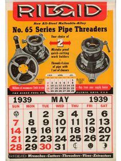 RIDGID Calendar May 1939