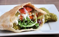 Oh my yum. Healthy baked falafel.