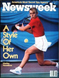 """Newsweek"", September 1982 (Martina Navratilova: ""If I'm on, nobody can beat me. If I'm off, I beat myself"")"