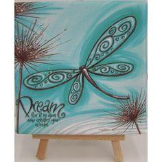 Lisa Pollock Art Mini Easel Canvas Gift Idea