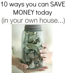 how to save money in your OWN house.   loved these tips!