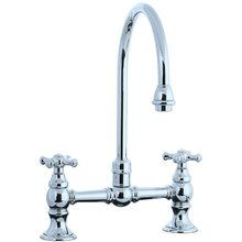View the Cifial 267.270.625 Double Handle Bridge Kitchen Faucet with Metal Cross Handles from the Highlands Series at FaucetDirect.com.