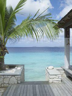 Caribbean beach villa view