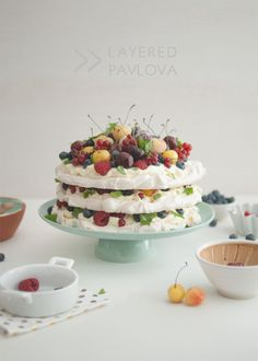 Layered Summer Berry Pavlova