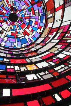 Tom Fruin - Interior of Watertower installation, NYC