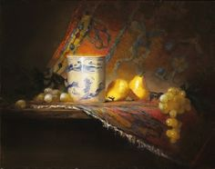 Persian Rug & Pears by Christine Hooker Oil ~ 11 x 14
