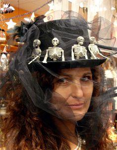 skulls on a hat