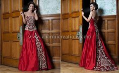 Fusion Gowns. Customary designs and colors of Indian wedding saris combined with the more traditional american style dress and fabric. Love this site!