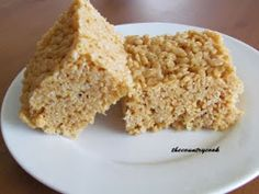 Peanutbutter Rice Krispies  Treats- makes me think of when my grandma brought these for snacks before piano lessons