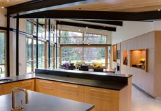 River Bank contemporary kitchen