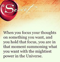 The Power of Positive Thinking ... Remember The Secret Law of Attraction
