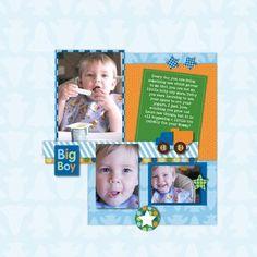 Big Boy Rugged All Boy Digital #Scrapbooking Layout from Creative Memories  http://www.creativememories.com