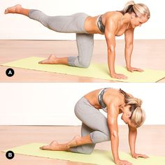 Targets Glutes & Ab Muscles~Focus  on your breathing & movement. Perform 12 to 15 reps before switching sides.