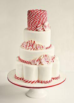 Peppermint Twist Wedding Cake, via Flickr.