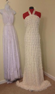 Custom Made fitted Ruffled Halter Gown by KalliAlbaBridal on Etsy, $150.00