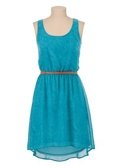 Belted High-Low Floral Print Tank Dress available at #Maurices