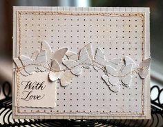 monochromatic card - love
