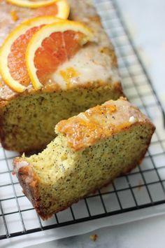 Greek Yogurt & Olive Oil Orange Poppy Seed Pound Cake