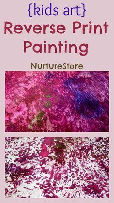 Fantastic process art for kids: reverse print painting