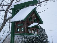 I already posted this bird house,but thought it looked pretty cool with snow on it.