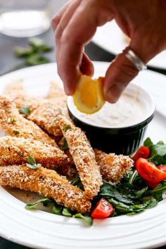 Crispy Garlic Chicken Strips with Sweet Chilli Mayo