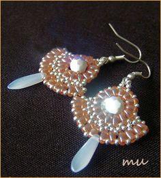 Boucles Muchas II  Twin Bead Earring Tutorial - pdf  #seed #bead #tutorial #earrings