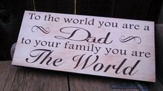 Gift for dad, wood sign.  Christmas gift, Fathers day or birthday. Great gift idea. Perfect for any occasion. on Etsy, $14.00