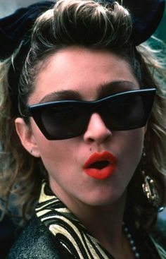 "Madonna in desperately seeking Susan - Head over to Pinterest and Re-pin our ""2013 Most Dangerous Celebrities"" infographic OR pin an image of your favorite most dangerous celebrity. Tag ALL pins with the hashtag #RiskyCeleb."