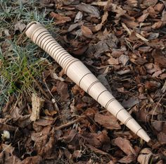 Wood turned - Dibber garden tool. Marked in inches to know how deep to plant your seedlings.