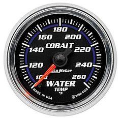 Auto Meter Cobalt Water Temperature Gauge