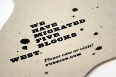 Creative Custom Moving Announcements | Oh So Beautiful Paper