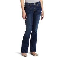 Levi's 515 Misses Mid Rise Classic Boot Cut Jean, Star Sapphire, 16 Long (Apparel)
