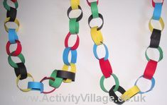 Olympic ring paper chain-Great Decoration for VBS!
