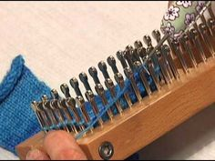 Sock loom: Binding off